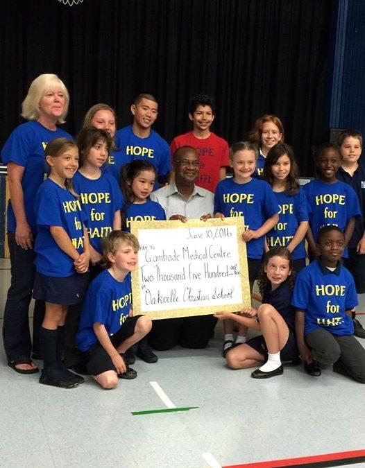 Oakville Christian School Students Have Successful Fundraiser