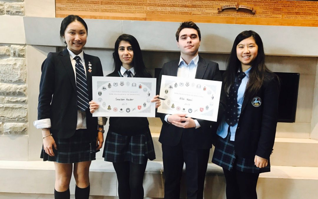 Appleby College Students Attend Winter Fulford Debating Competition